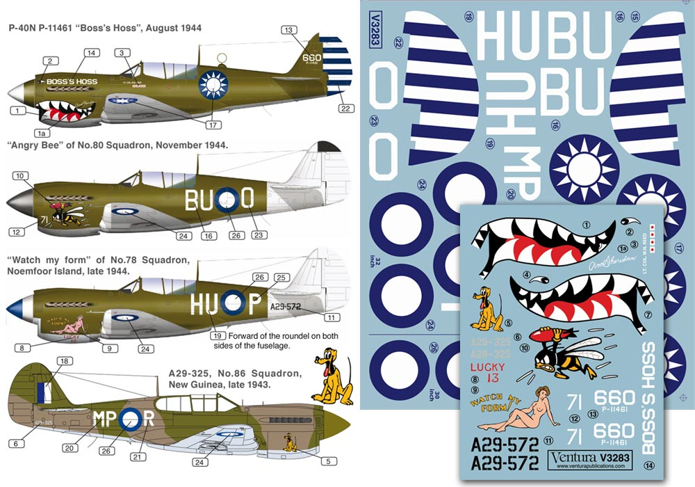 RAAF Beaufighters 1//32nd scale decal No.31 and No.93 Squadron V3284.